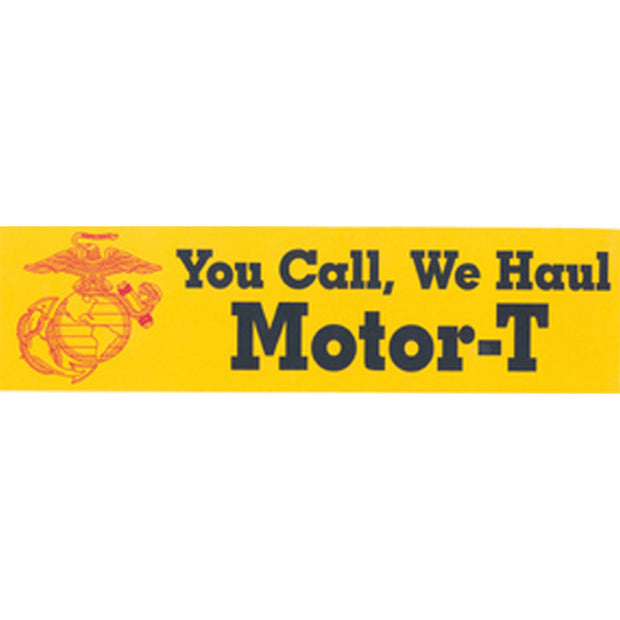 You Call We Haul Bumper Sticker
