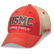 USMC Semper Fidelis Trucker Cover Red