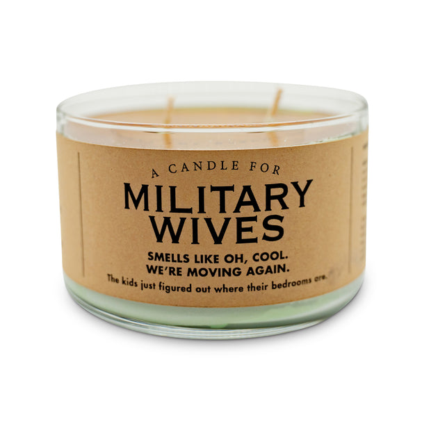 Military Wives Candle
