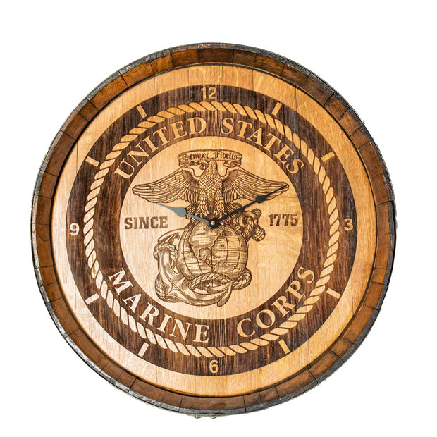 EGA Wine Barrel Clock