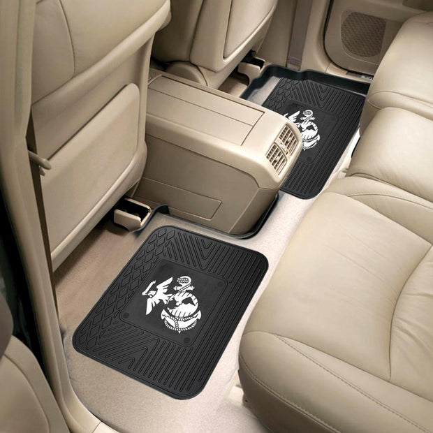 Heavy Duty Eagle, GLobe & Anchor 2-Pc Back Floor Mats