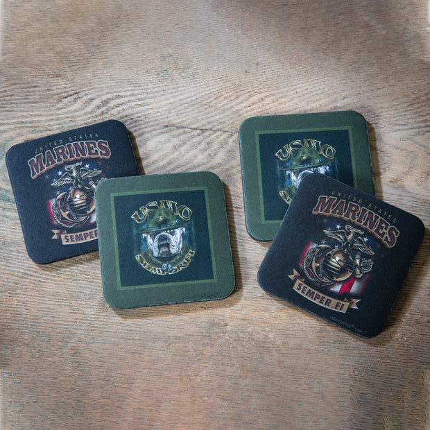 USMC Bulldog Coaster Set