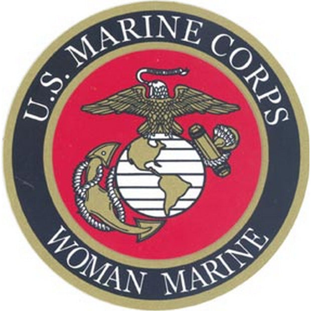 Woman Marine 4 Decal