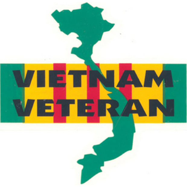 "Vietnam Veteran 4 1/8"" Decal"