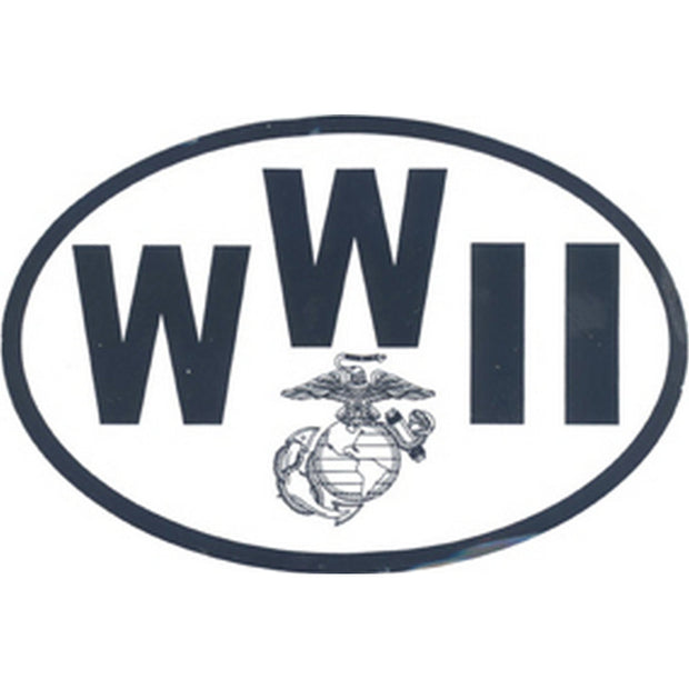 "WWII Country 4 1/2"" x 3"" Decal"