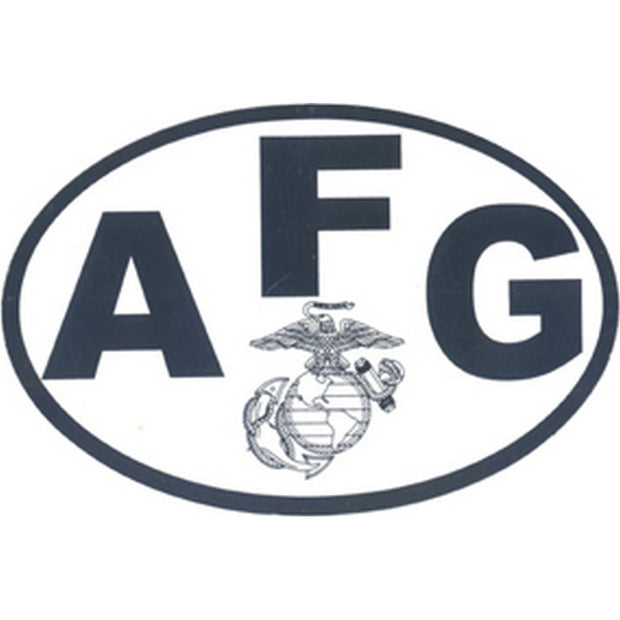 "AFG Country 4 1/2"" x 3"" Decal"