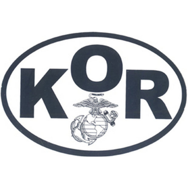 "KOR Country 4 1/2"" x 3"" Decal"