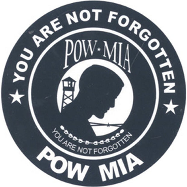 "POW MIA 3"" Round Decal"