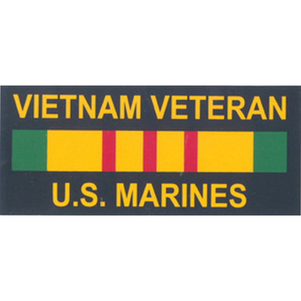 USMC Vietnam Veteran 4 x 1 3/4 Decal