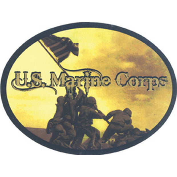 "Iwo Jima 4"" x 3"" Decal"
