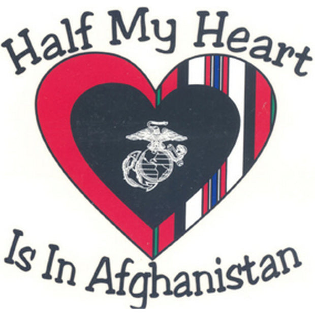 "Half My Heart Is In Afghanistan 4"" Decal"
