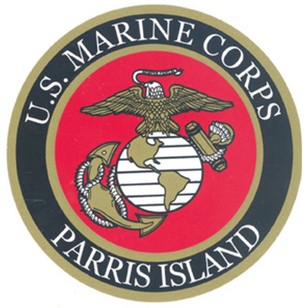 "Parris Island 4"" Decal"