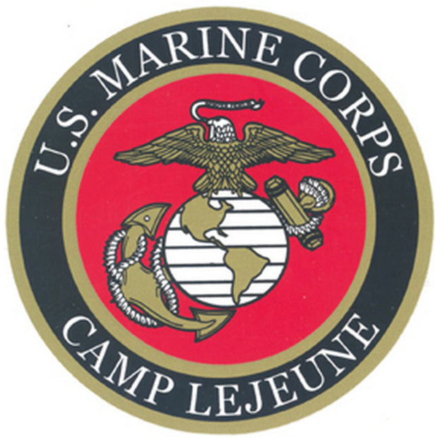 "Camp LeJeune 4"" Decal"