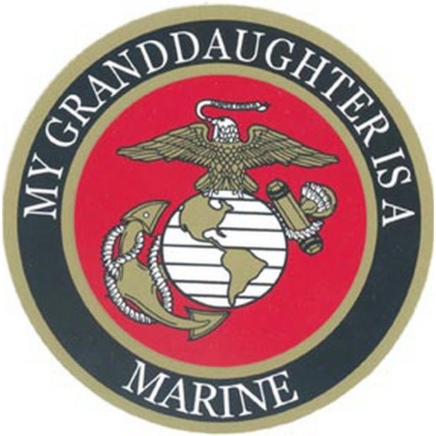 My Granddaughter is a Marine 4 Decal