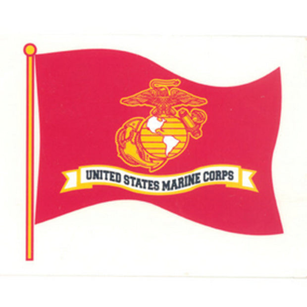"Marine 4"" x 3"" Flag Decal"