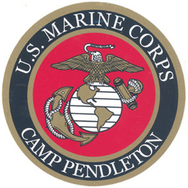 "Camp Pendleton 3 1/2"" Decal"