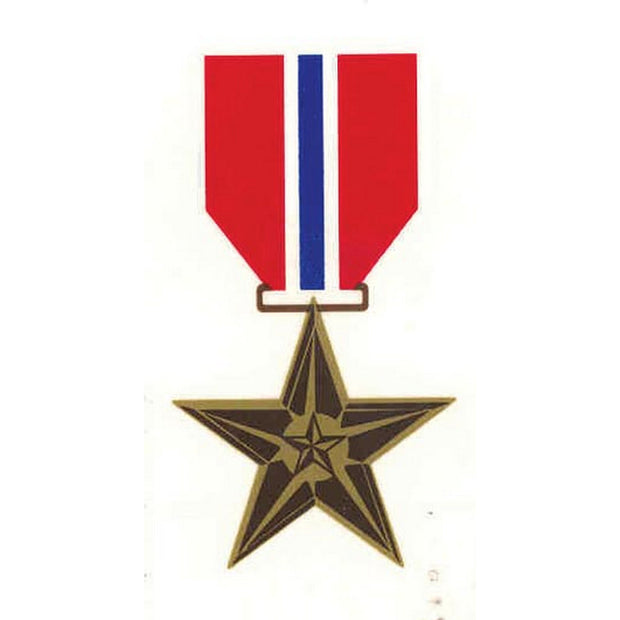 "Bronze Star 3"" x 1 1/2"" Decal"