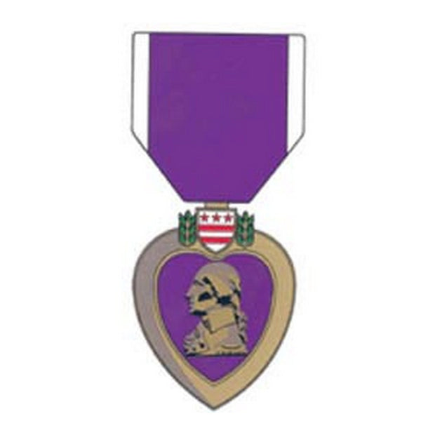 "Purple Heart Medal Decal 6"" x 2 /3/4""."