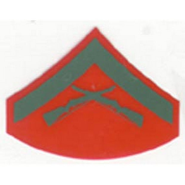 Lance Corporal Red and Green Rank Insignia Decal