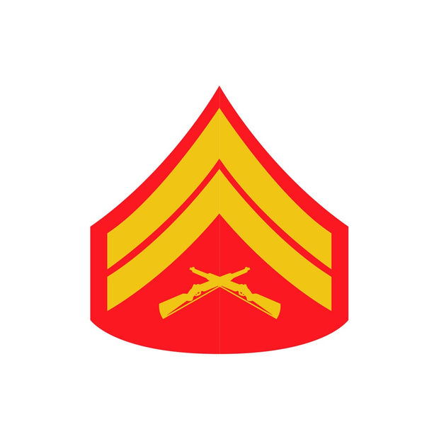 Corporal Red and Gold Rank Insignia Decal