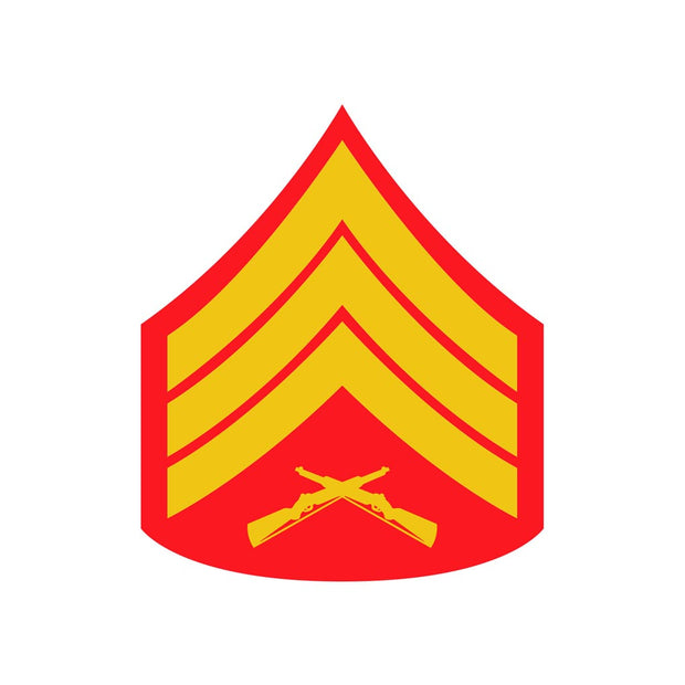 Sergeant Red and Gold Rank Insignia Decal