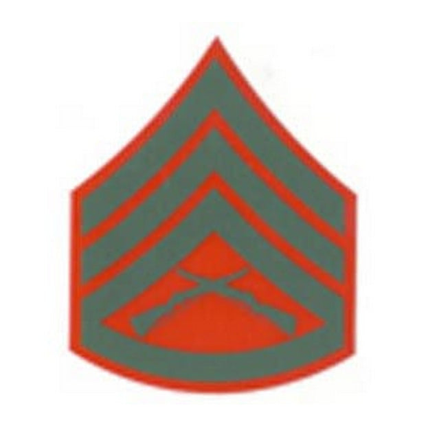 Staff Sergeant Red and Green Rank Insignia Decal