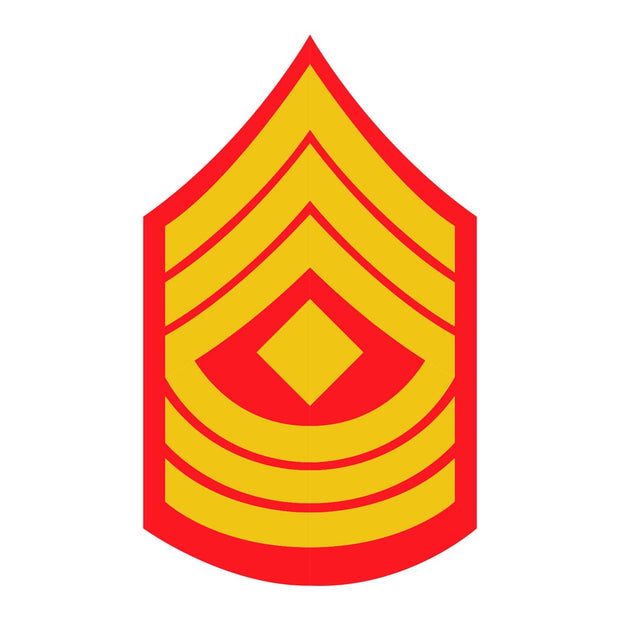 "1stSgt Red and Gold Rank Insignia 2 1/4"" x 3 1/4"" Decal"