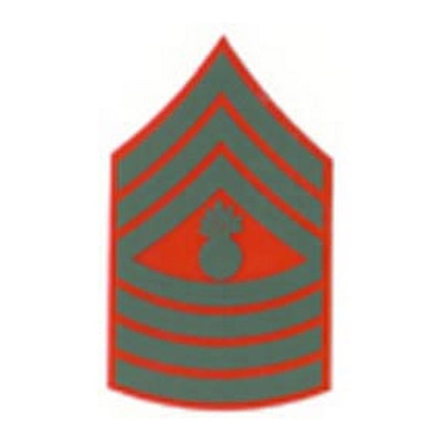 Master Gunnery Sergeant Red and Green Rank Insignia Decal