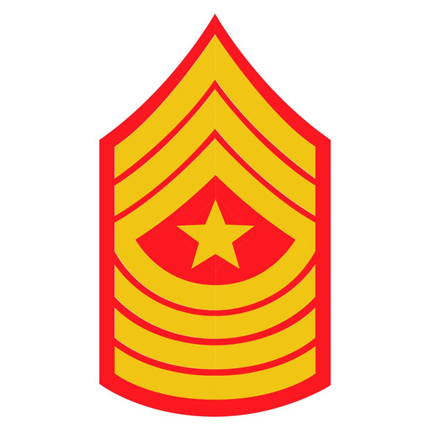 Sergeant Major Red and Gold Sgt Rank Insignia  Decal