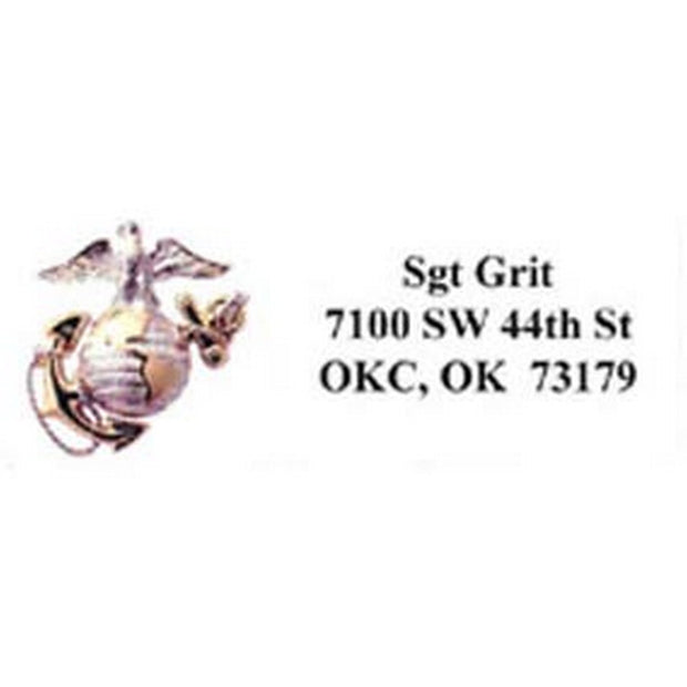 Eagle Globe & Anchor Address Labels