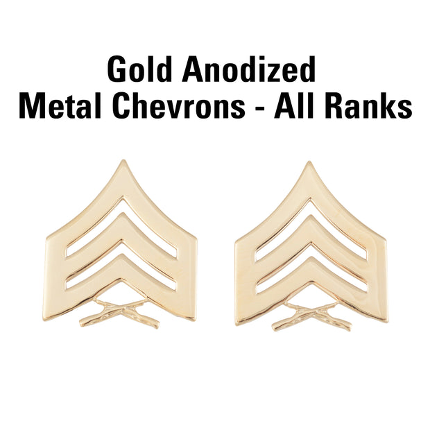 Gold Anodized Metal Chevrons