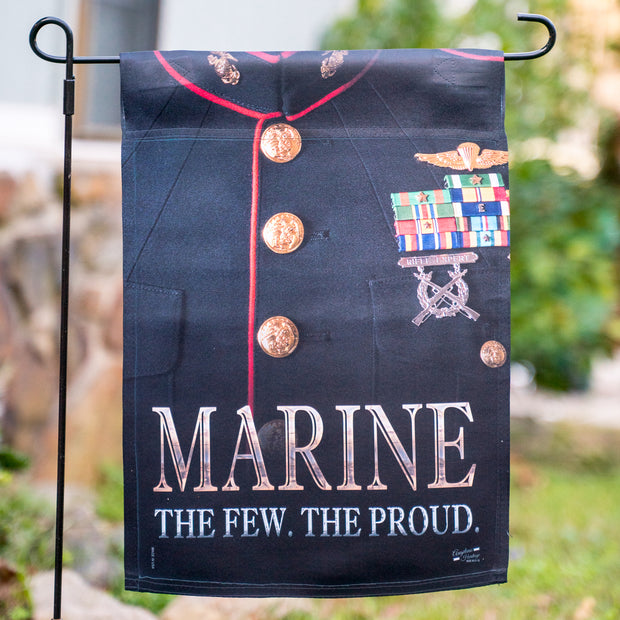 Dress Blues Marine Garden Flag