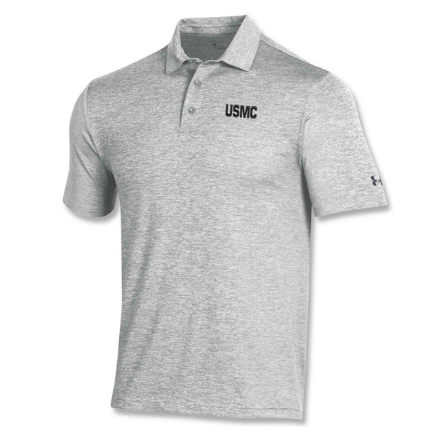 UA USMC Heather Polo