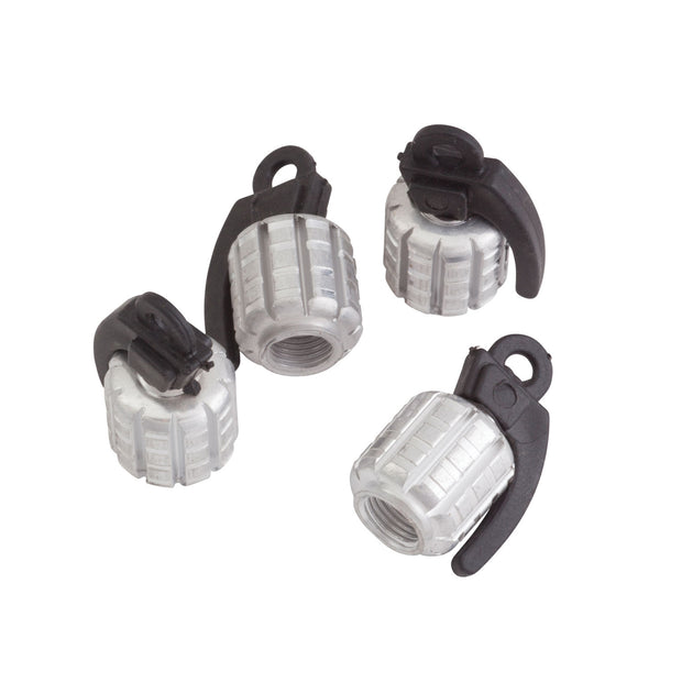 Pineapple Grenade Valve Stem Cap Set