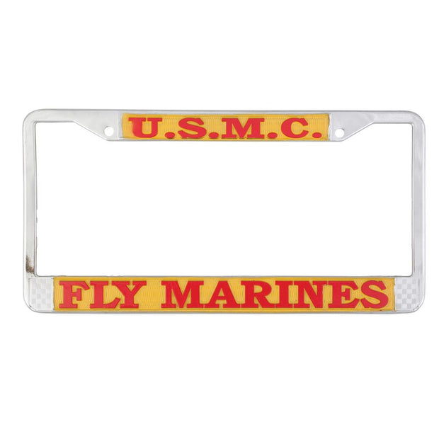 USMC Fly Marines License Plate Frame