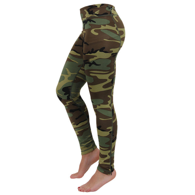 Ladies Camo Workout Leggings