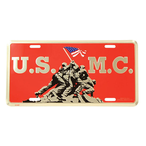 U.S.M.C. Iwo Jima License Plate
