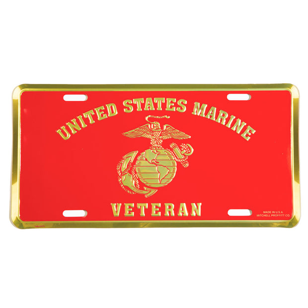 United States  Marine Veteran License Plate