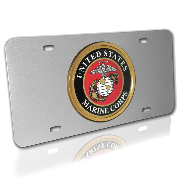 Marines Seal Brushed Silver License Plate
