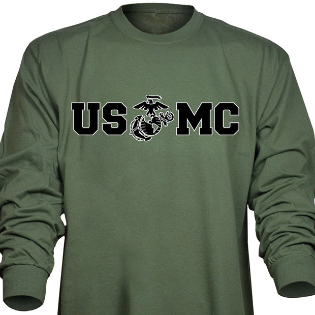 Bold USMC Long Sleeve T-Shirt