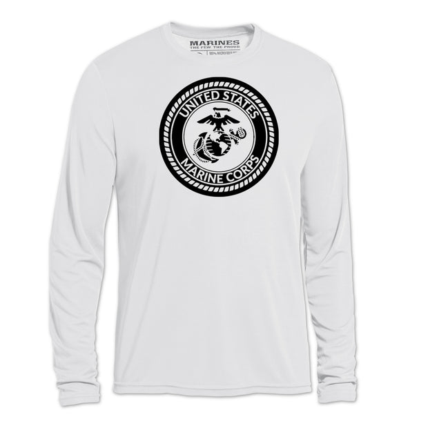 Monotone USMC Seal Long Sleeve T-Shirt