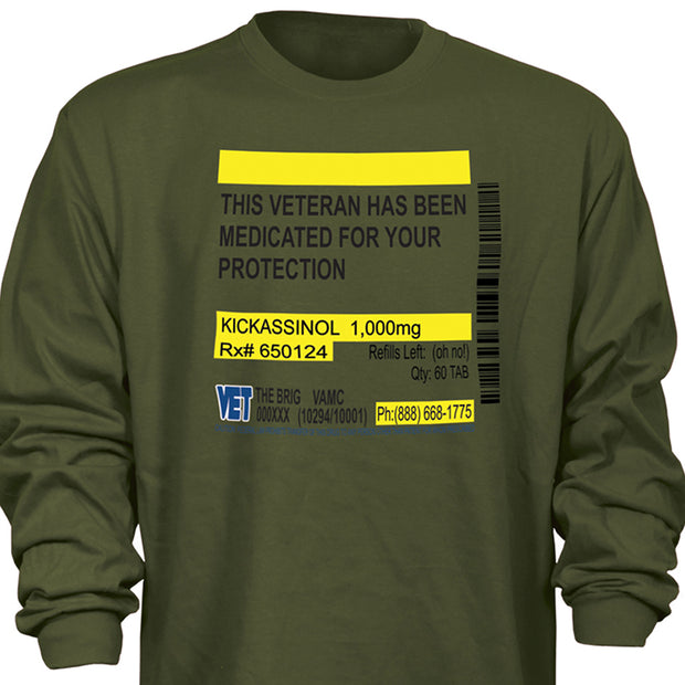Medicated For Your Protection Longsleeve T-shirt