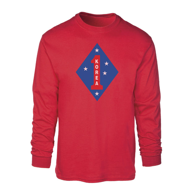 Korea 1st Marine Division Long Sleeve Shirt