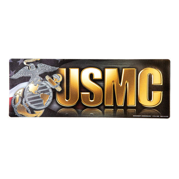 USMC Chrome Bumper Strip Magnet