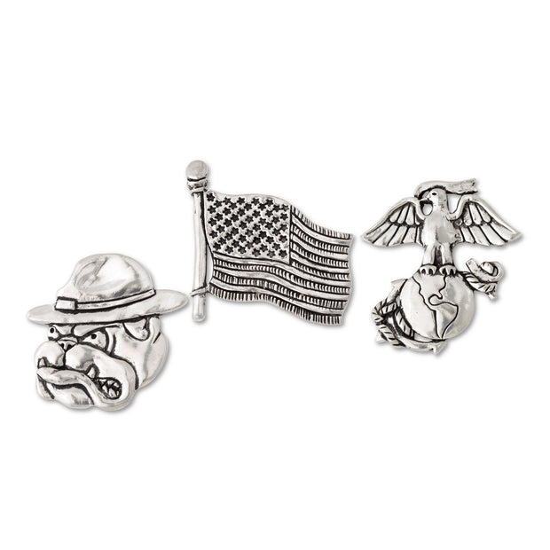USMC Pewter Magnet Set