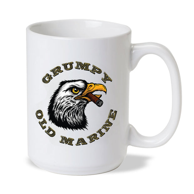 Grumpy Old Marine Eagle Mug