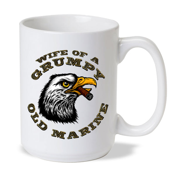 Wife of a Grumpy Old Marine Eagle Mug