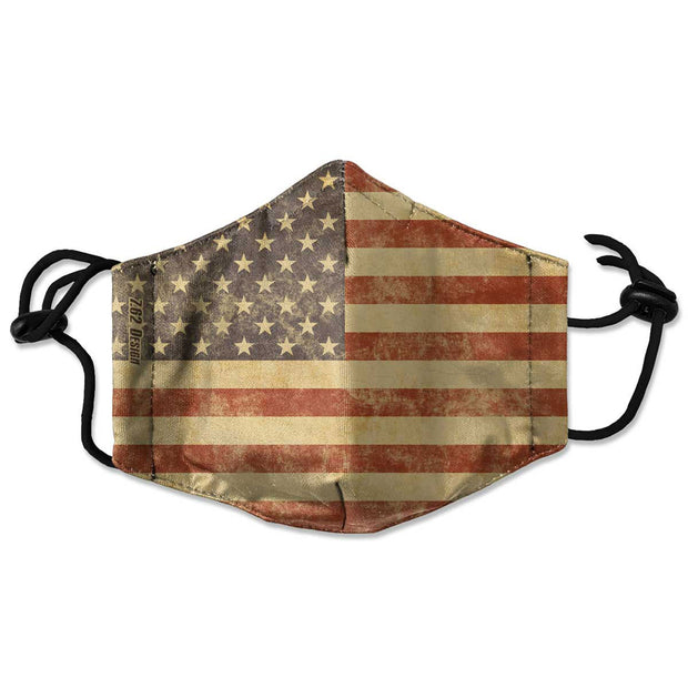 Vintage USA Flag Face Mask
