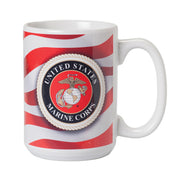 Old Glory and Marine Warrior Mug