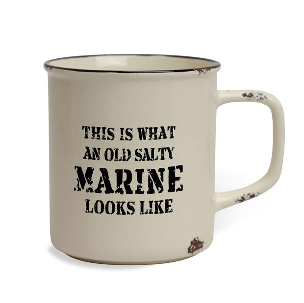 Old Salty Marine Tin Mug